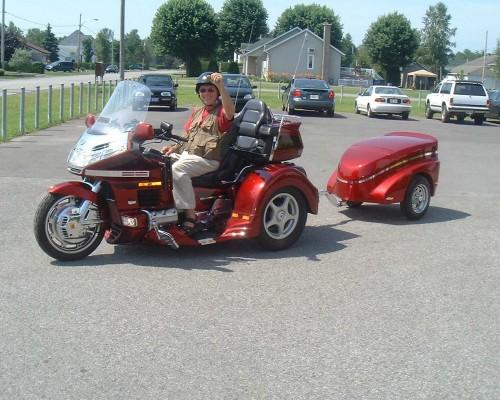 Motorcycle Honda Goldwing trike trailer