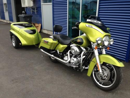 Harley motorcycle trailer 2014